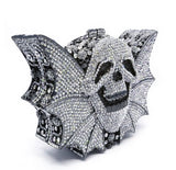 drac pack skull evening bag - tilted view