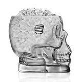 Glass Skull Ice Bucket - side view