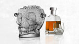 Glass Skull Ice Bucket - with bottle