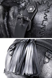 """Goliath"" Skull Backpack - rivets"