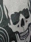 Gothic Skull Linen Throw Cushion Cover - close up of print