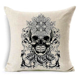 """Paris"" Skull Linen Throw Cushion Cover"