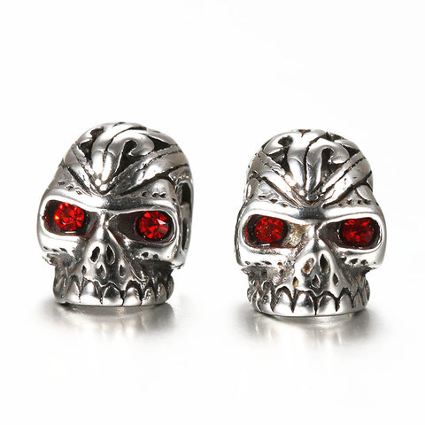 """Terminator"" Stainless Steel Skull Stud Earrings - skullpixie"