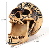 """The Perpetual Yawn"" Skull Statue"