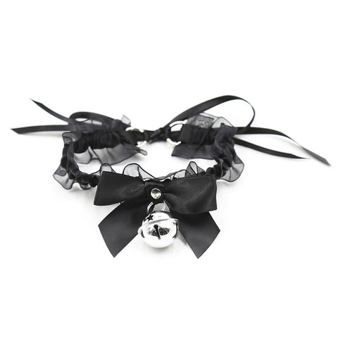 """French Maid"" Sexy Bell Choker"