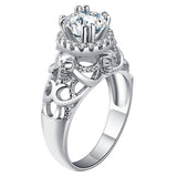 Skull Diamond Engagement Ring / Wedding Ring