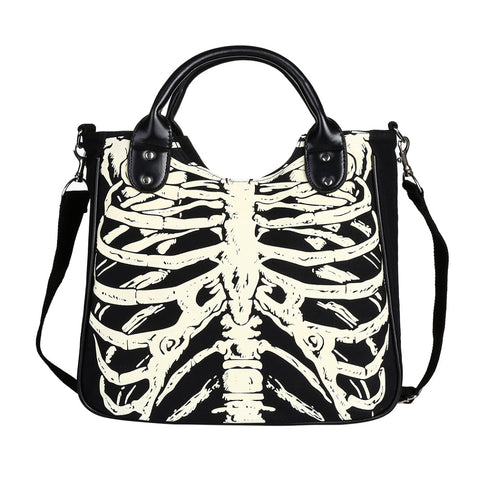 Skeleton Canvas Tote