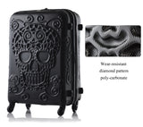 Sugar Skull Hard Side Rolling Suitcase - poly carbonate