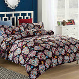 Sugar Skulls on Black Duvet Cover Set