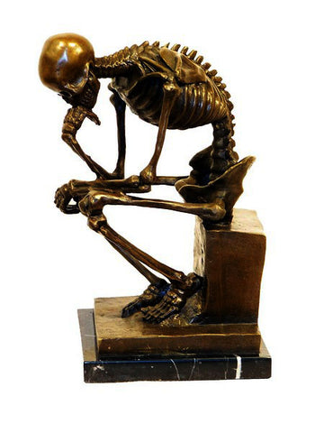 """The Thinker"" Copper Skeleton"