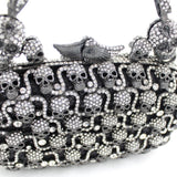 """Ursula"" Rhinestone Skull Evening Bag - clasp"