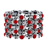"""Wide Load"" Stretch Skull & Rhinestone Bracelet"