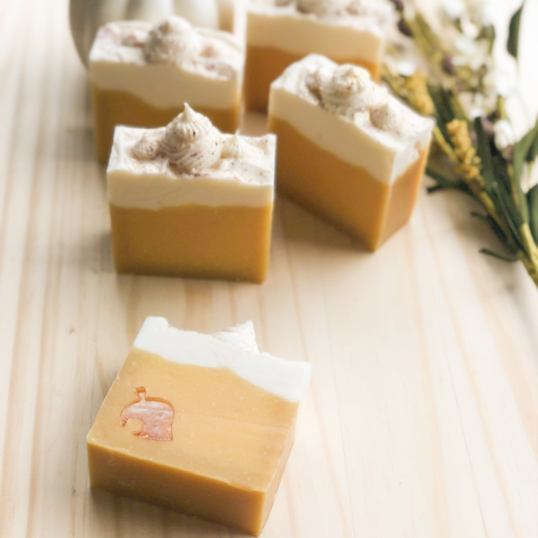 Cozy Pumpkin Cake Cold Process Soap