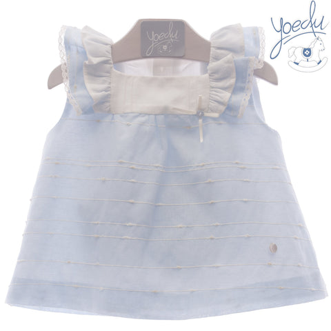 Baby Girls sleeveless cotton linen dress with panty