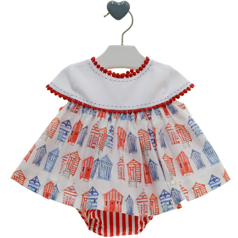Baby Girls flowers ruffles dress with ruffle panty
