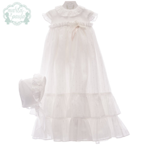 Baby ceremony dress and bonnet