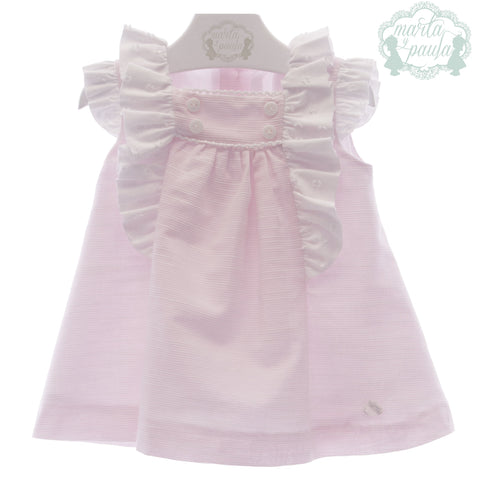 Baby Girls plumeti white ruffles dress