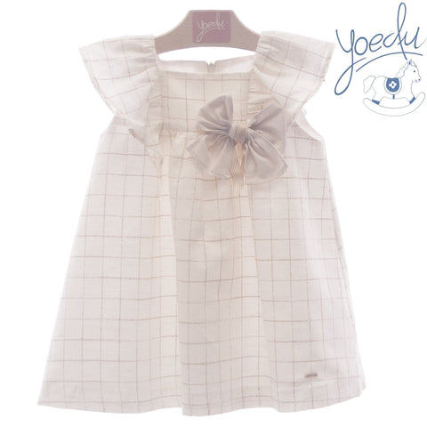 Girls Squares ruffle dress