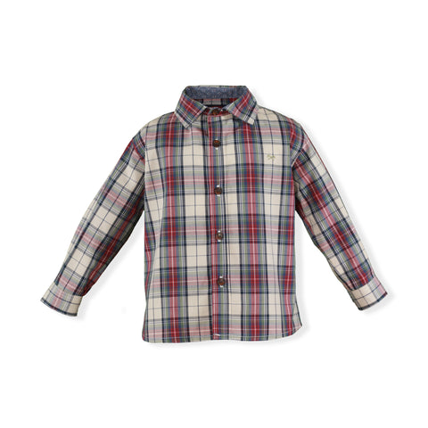 Baby Green plaid long sleeve shirt