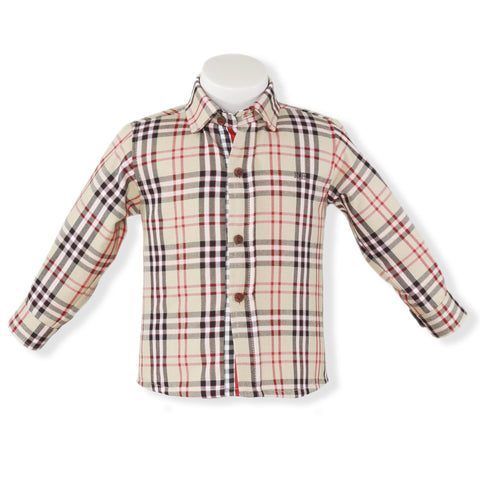 Baby Boys plaid long sleeve shirt