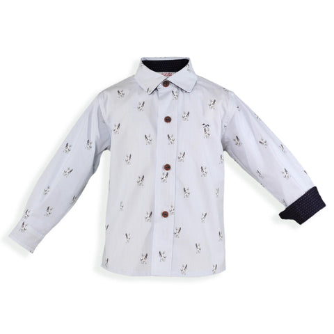 Baby Boys dogs print long sleeve shirt