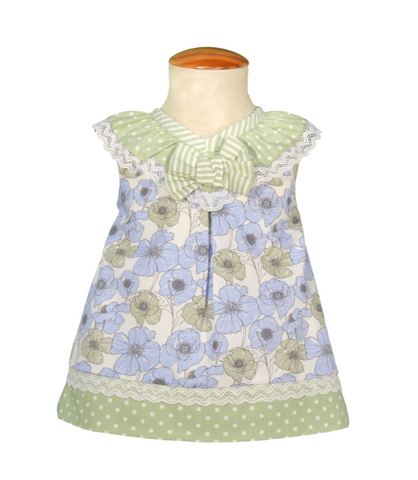 Baby Girls Polka Dots Flowers Dress