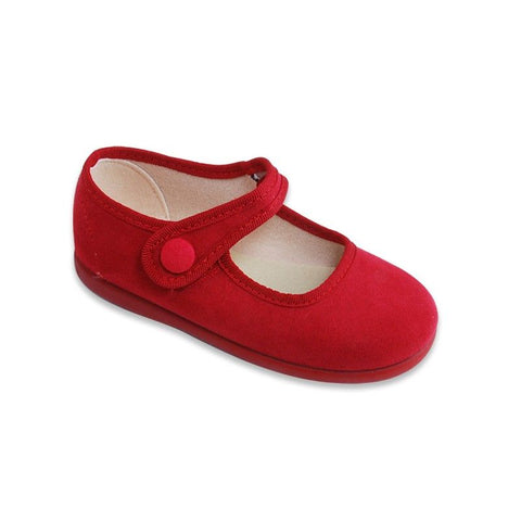 Merceditas velcro boton shoes