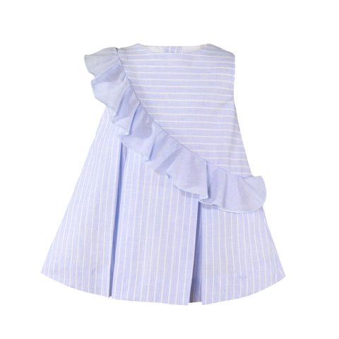 Baby girls stripes and side ruffle dress