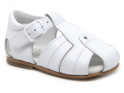 Baby riscal white sandals with sole