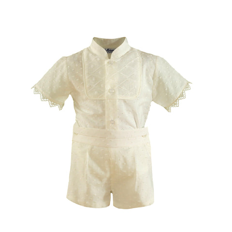 Boys plumeti with mao collar ceremony set