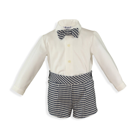 Baby Boys Bow ties crow's feet short set