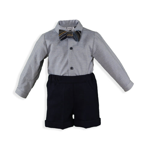Boys long sleeve with bow tie shirt