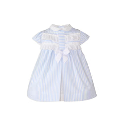 Baby girls stripes with collar dress