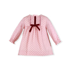 Baby Girls plumeti long sleeve pink dress