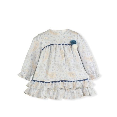 Baby pom poms bacterium print dress