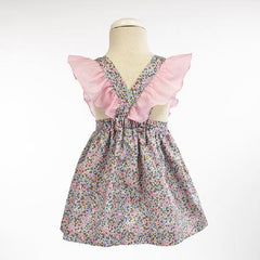 Girls floral and ruffle dress