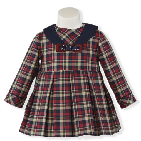 Baby Girls long sleeve Escoces dress