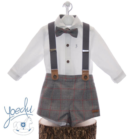 Boy Grey susperder bow tie set