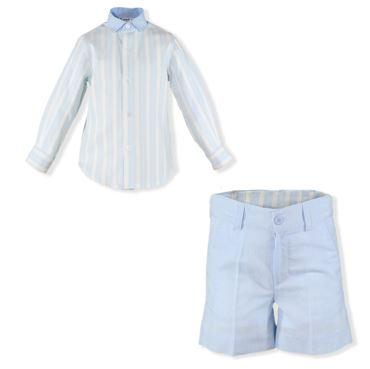 Boys long sleeve stripes shirt set