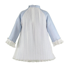 Girls corduroy and lace long sleeve dress