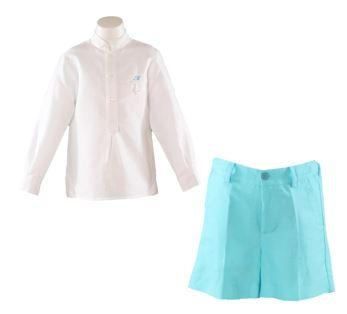 Boys Turquoise short set