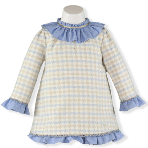 Girls light blue ruffles dress