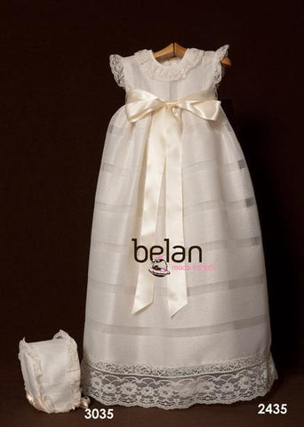 Traditional baptism gown sleeveless and lace 2p