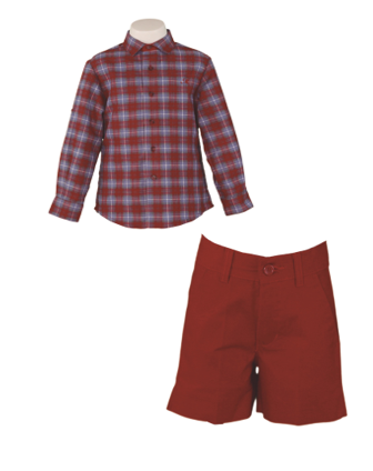 BOY SET PLAID LONG SLEEVE SHIRTS