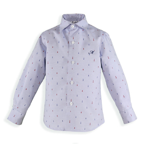 Baby Boys chess pieces  print shirt