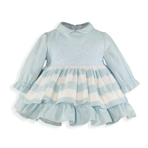 Baby stripes floral lace dress