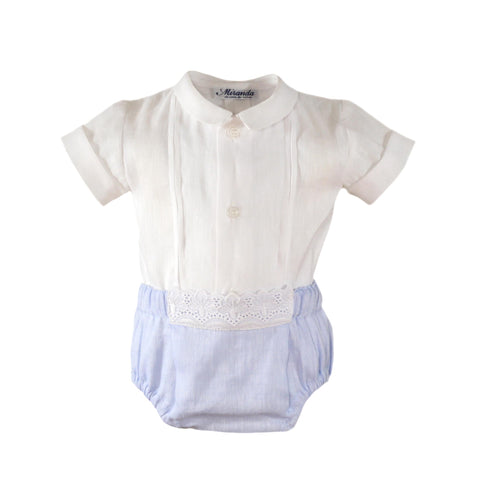 Baby boys short pants with applique and shirt set