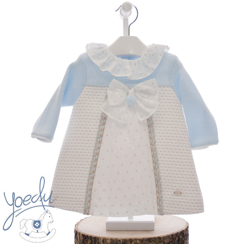 Baby Girls Plumetti pom pom long sleeve dress
