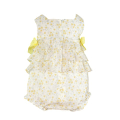 Baby girls yellow flowers print romper