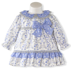 Baby Girls Polka dots floral print dress